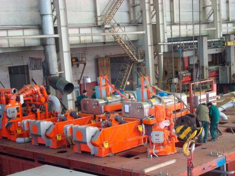 Комплекс оборудования циркуляционной системы тяжелой буровой установки