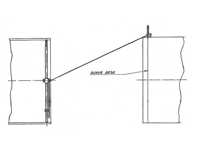 Устройство для разметки линии реза на трубе DN 1020-1420